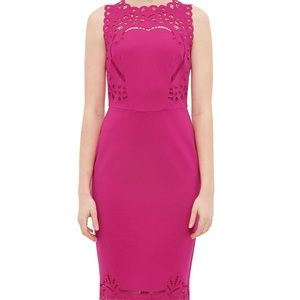 Ted baker fuschia verita bodycon midi dress size 0